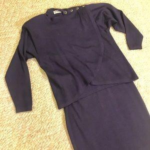 St. John skirt set Navy blue